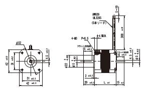 20mm角/外形寸法